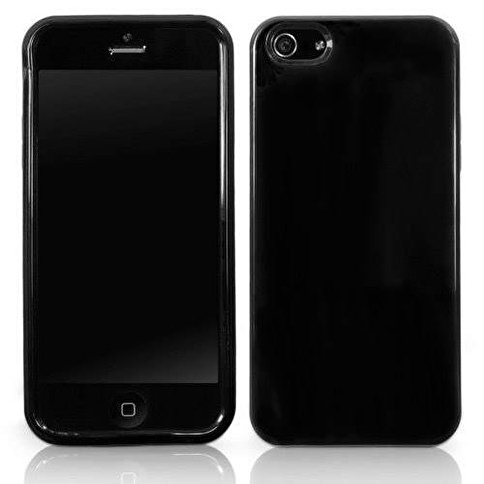 Microsonic iPhone  5 Glossy Soft Kılıf Siyah Renkli